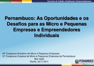 18º Congresso Brasileiro de Micro e Pequenas Empresas