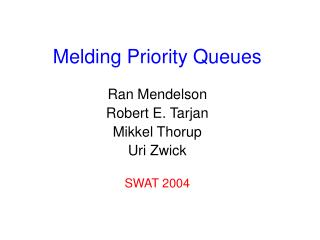 Melding Priority Queues