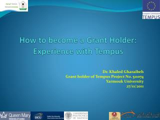 How to become a Grant Holder:  Experience  with Tempus