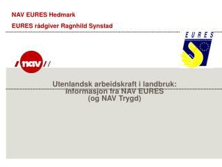 Utenlandsk arbeidskraft i landbruk: Informasjon fra NAV EURES  (og NAV Trygd)
