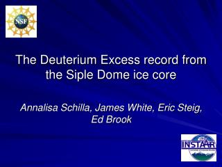 The Deuterium Excess record from the Siple Dome ice core