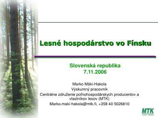 Lesné hospodárstvo vo Fínsku