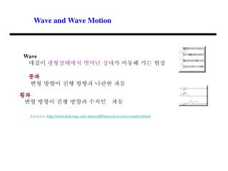 Wave and Wave Motion