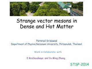 Strange vector mesons in Dense and Hot  M atter