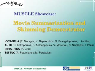 Movie Summarization and Skimming Demonstrator