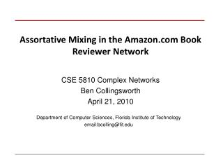 Assortative Mixing in the Amazon Book Reviewer Network