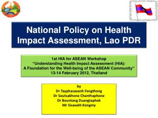 National Policy on Health Impact Assessment, Lao PDR