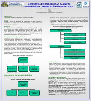 ASSESSORIA DE COMUNICAÇÃO DA UNIFRA: PROMOVENDO A COMUNICAÇÃO ORGANIZACIONAL 1