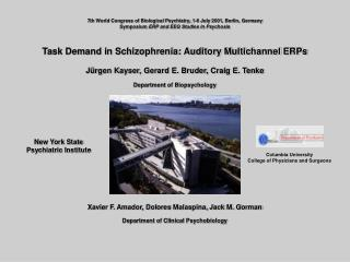 Task Demand in Schizophrenia: Auditory Multichannel ERPs