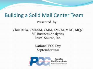 Building a Solid Mail Center Team