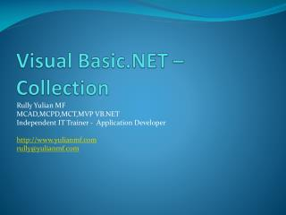 Visual Basic.NET – Collection