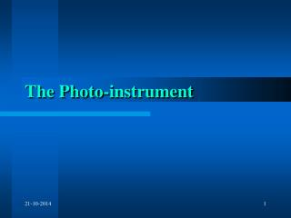 The Photo-instrument