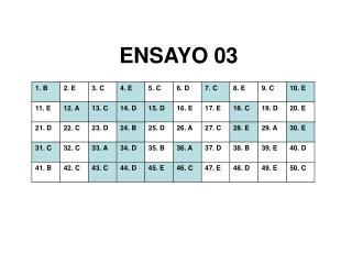 ENSAYO 03