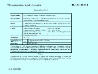 Telecommunications Industry Association	TR41.3-06-08-009-L