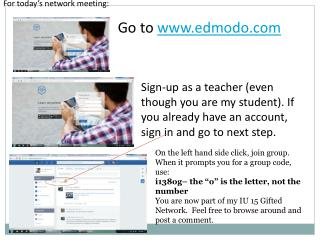 For today�s network meeting: