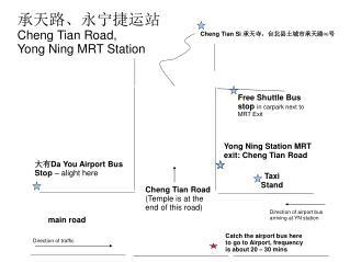 承天路、永宁捷运站 Cheng Tian Road,  Yong Ning MRT Station