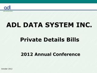 ADL DATA SYSTEM INC.