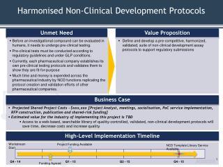 Harmonised Non-Clinical Development Protocols
