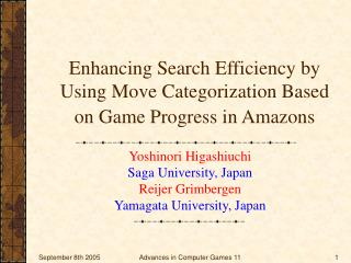 Enhancing Search Efficiency by Using Move Categorization Based on Game Progress in Amazons