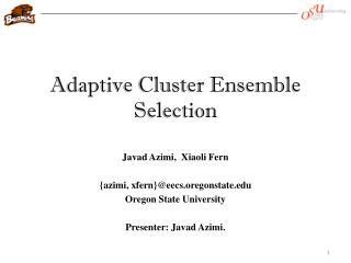 Adaptive Cluster Ensemble Selection
