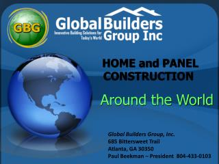 HOME and PANEL CONSTRUCTION