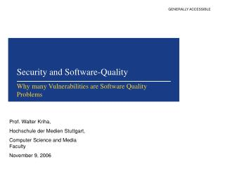 Security and Software-Quality