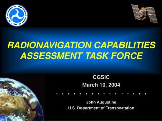 RADIONAVIGATION CAPABILITIES ASSESSMENT TASK FORCE