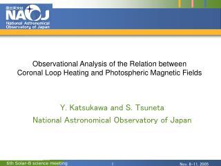 Y. Katsukawa and S. Tsuneta National Astronomical Observatory of Japan
