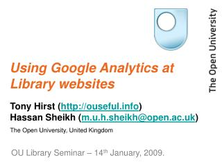 Using Google Analytics at Library websites