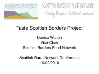 Taste Scottish Borders Project