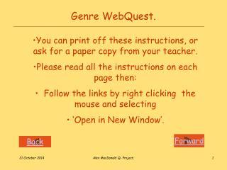 Genre WebQuest.