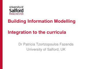 Building  Information  Modelling Integration  to the curricula