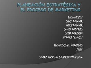 Planeaci n estrat gica y el proceso de marketing