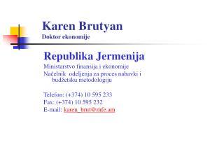 Karen Brutyan  Doktor ekonomije