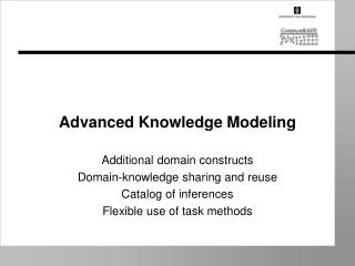 Advanced Knowledge Modeling