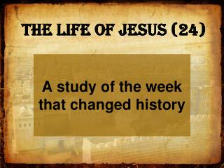 The Life of Jesus (24)