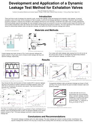 Development and Application of a Dynamic Leakage Test Method for Exhalation Valves