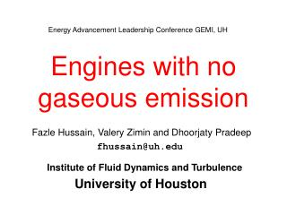 Engines with no gaseous emission