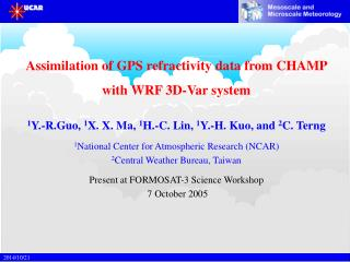 Assimilation of GPS refractivity data from CHAMP  with WRF 3D-Var system