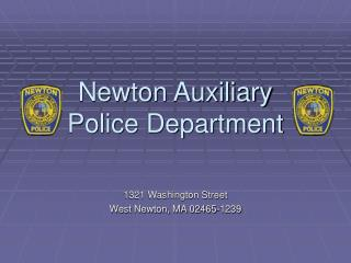 Newton Auxiliary Police Department
