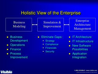 Holistic View of the Enterprise