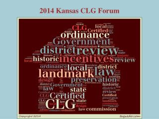 2014 Kansas CLG Forum