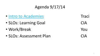 Agenda 9/17/14