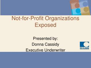 Not-for-Profit Organizations Exposed