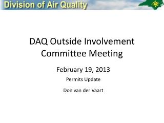 DAQ Outside Involvement  Committee Meeting