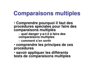 Comparaisons multiples