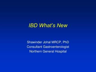 IBD What's New