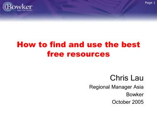 How to find and use the best free resources