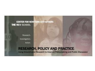 RESEARCH, POLICY AND PRACTICE :