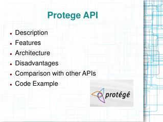 Protege API